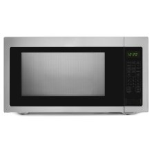 2.2 Cu. Ft. Countertop Microwave with Add :30 Seconds Option Black-on-Stainless