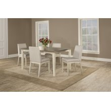 Clarion 5-piece Rectangle Dining Set With Upholstered Chairs - Sea White
