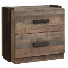 Weathered Oak and Rustic Coffee Nightstand