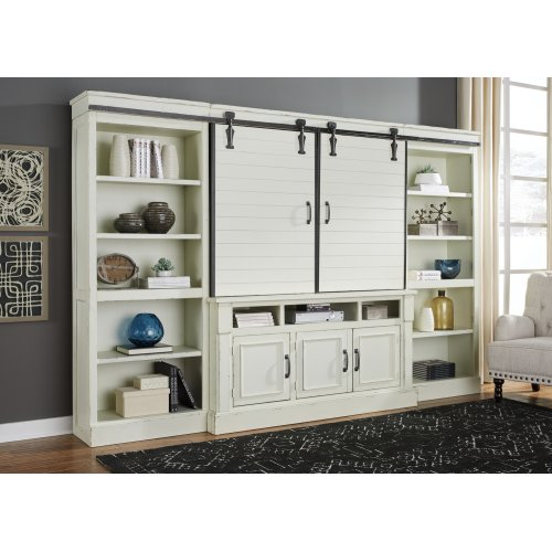 Blinton - Antique White 4 Piece Entertainment Set