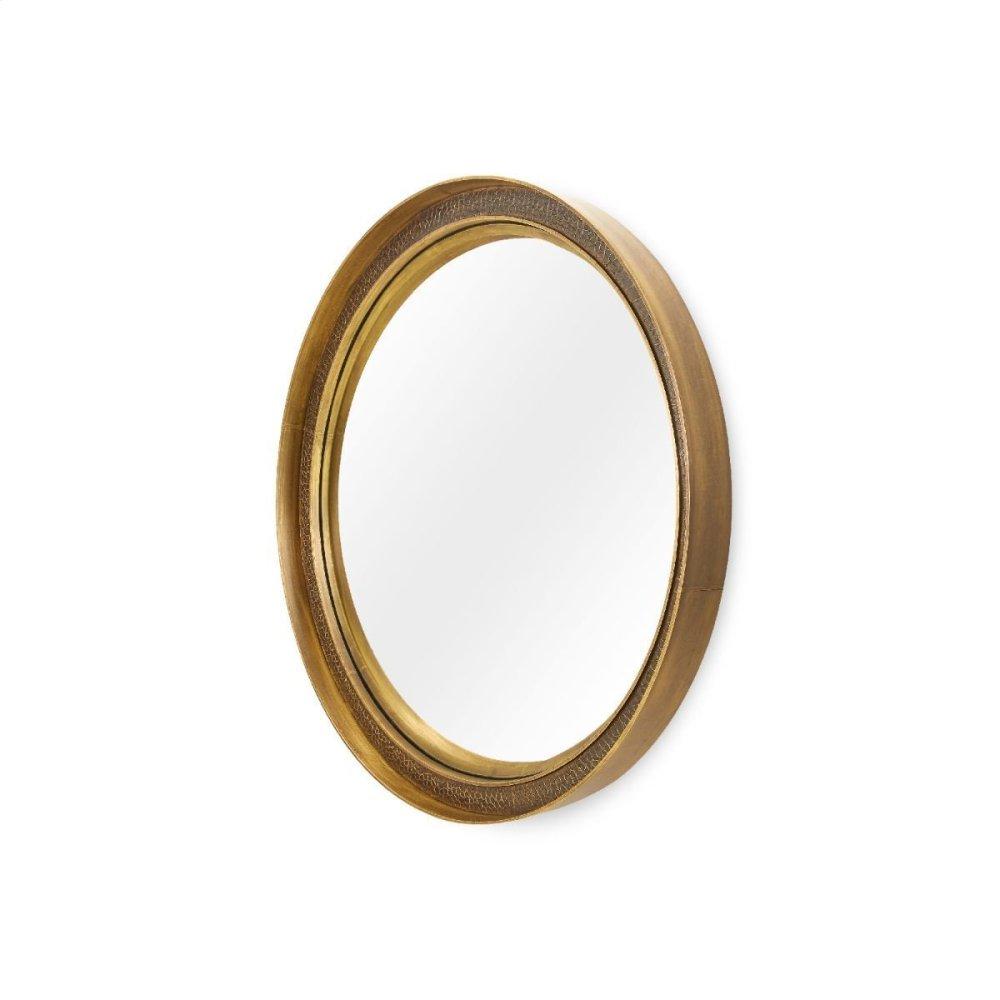 Dorian Small Mirror, Antique Brass