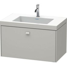 Furniture Washbasin C-bonded With Vanity Wall-mounted, Concrete Gray Matte (decor)