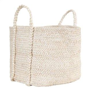 Jute Basket Ivory