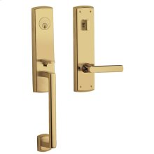 Lifetime Polished Brass Soho Escutcheon Handleset