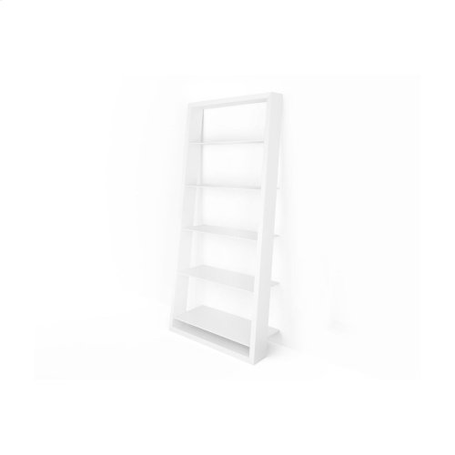 Leaning Shelf White 5157 in Smooth Satin White