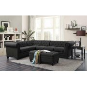 Roy Traditional Grey Sectional Product Image