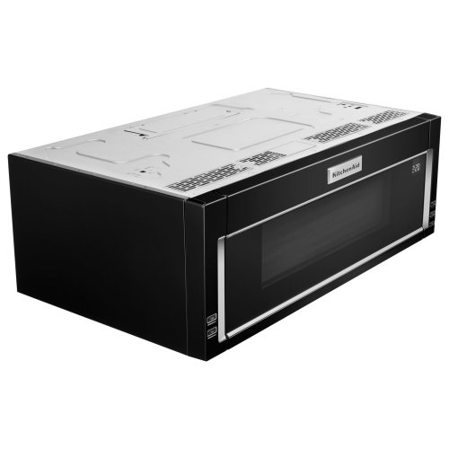 1000-Watt Low Profile Microwave Hood Combination Black