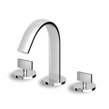 3 hole bidet mixer, fixed spout with antisplash, flexible tails.