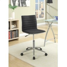 Modern Black and Chrome Home Office Chair