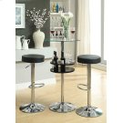 Black Faux Leather Adjustable Bar Stool Product Image