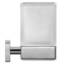 Chrome Karree Glass Holder