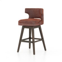 Task Swivel Bar Stool-twill Brick
