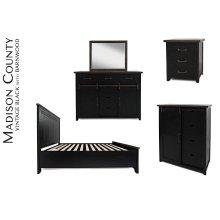 Madison County Dresser & Mirror - Vintage Black