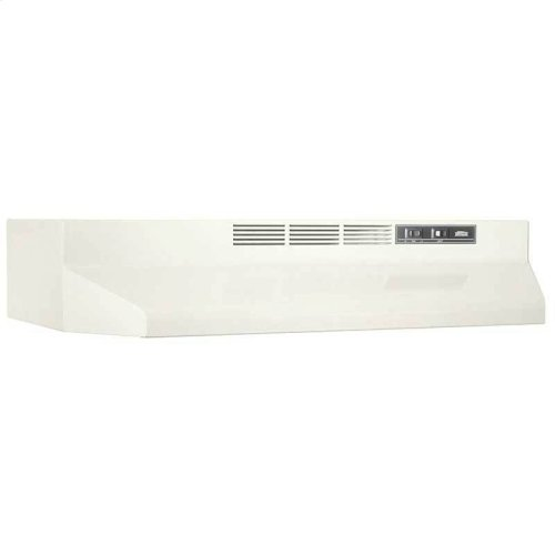 """30"""" Ductless Under-Cabinet Range Hood with Light in Bisque"""