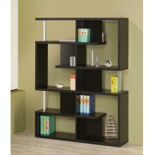 Transitional Black Bookcase