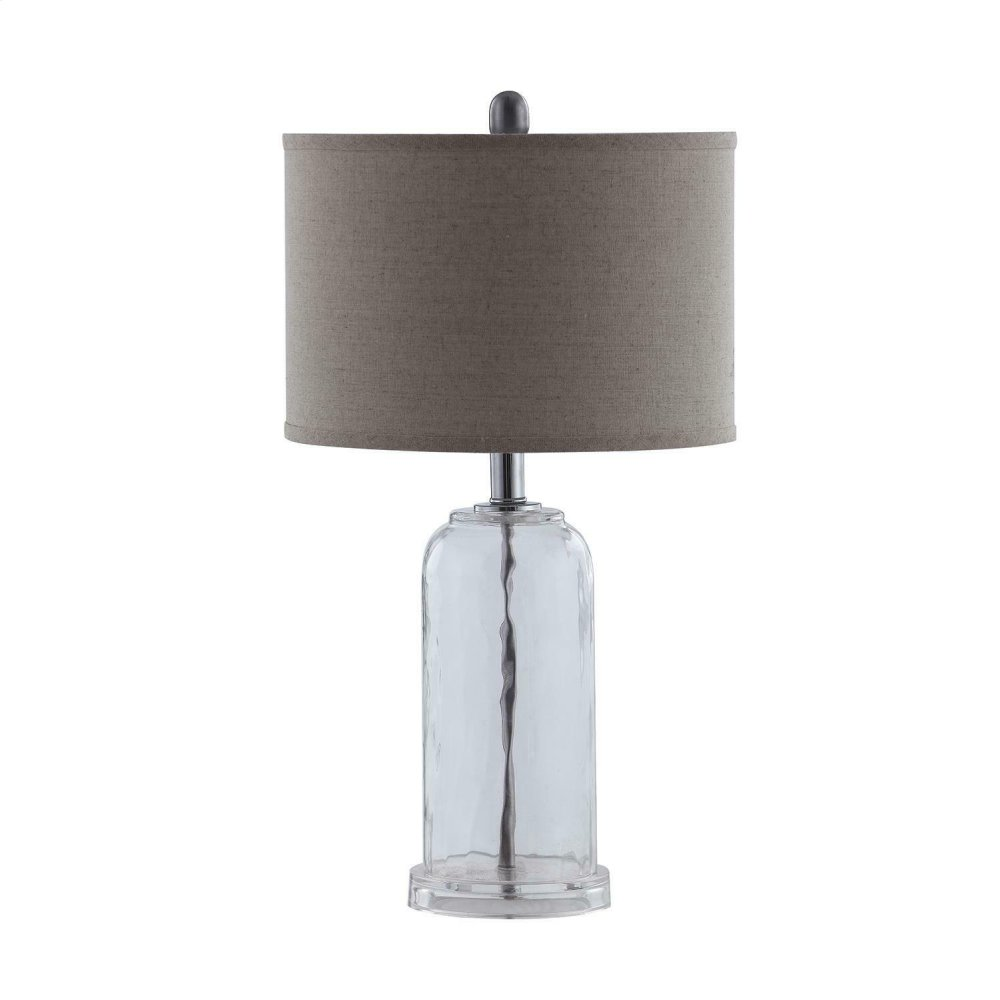 White and Glass Table Lamp