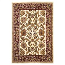"Cambridge 7303 Ivory/red Kashan 5'3"" X 7'7"""