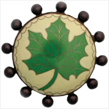 Cloisonn' Beaded with Green Leaf