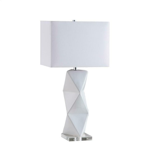 Transitional White Table Lamp