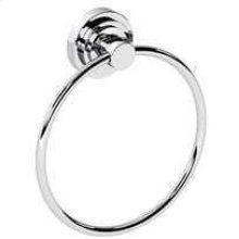 Stainless Steel With Matt Black Towel ring, 6""