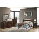 Louis Philippe Traditional Cappuccino Queen Headboard Product Image
