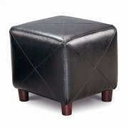 Cube Ottoman Black Product Image