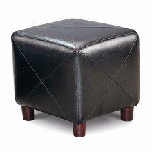 Cube Ottoman Black