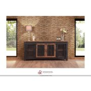"80"" TV Stand w/4 doors & Shelves Product Image"