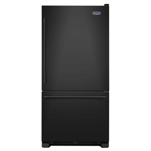33-Inch Wide Bottom Mount Refrigerator - 22 Cu. Ft. Black