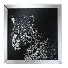 Contemporary Black Leopard Wall Mirror