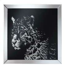 Contemporary Black Leopard Wall Mirror