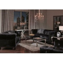 Reventlow Formal Black Two-piece Living Room Set