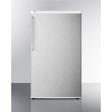 Energy Star Qualified Auto Defrost Refrigerator-freezer, With A Counter Height White Cabinet, Stainless Steel Door, and Towel Bar Handle