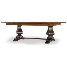 Dining Room Sanctuary Refectory Table - Ebony & Drift