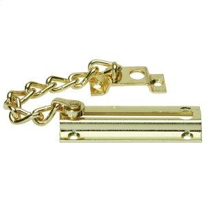 Door Hardware  Chain Door Guard - Bright Brass Product Image