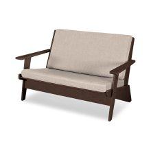 Mahogany & Cast Ash Riviera Modern Lounge Settee