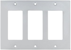 Triple Rocker Modern Switchplate in (US26D Satin Chrome Plated) Product Image