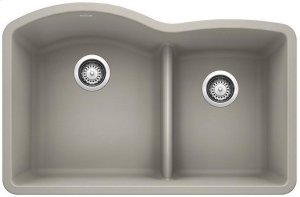 Blanco Diamond 1-3/4 Bowl With Low-divide - Concrete Gray Product Image