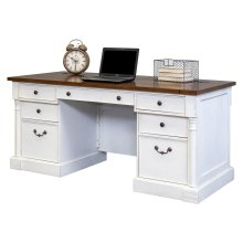 "66"" Double Pedestal Executive Desk"