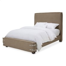 Cal King Upholstered Bed Khaki (2 Pc)
