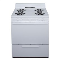 30 in. Freestanding Gas Range in White