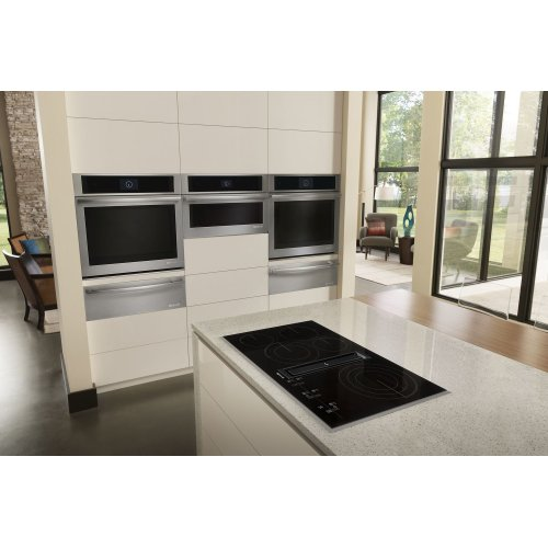 "Euro-Style 36"" JX3 Electric Downdraft Cooktop with Glass-Touch Electronic Controls Stainless Steel"