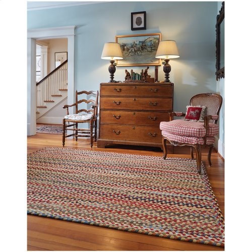 Plymouth Light Gold Braided Rugs (Custom)