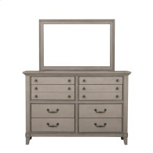 Modern Farmhouse Eight Drawer Dresser in Brown