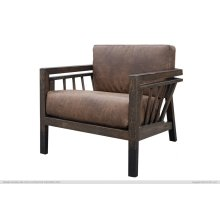 Arm Chair, w/ Bonded Leather Cushions