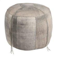 Matteo Leather Ottoman Stone Wash