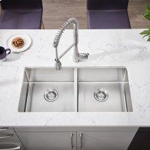Pekoe 35x18 Double-Bowl Stainless Steel Sink  American Standard - Stainless Steel