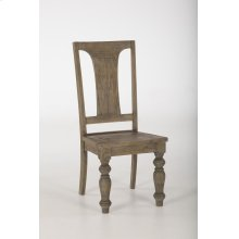 """Colonial Plantation Dining Chair 18"""" Weathered Teak"""