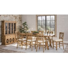 Telluride Trestle Table With Bench and 6 Stools