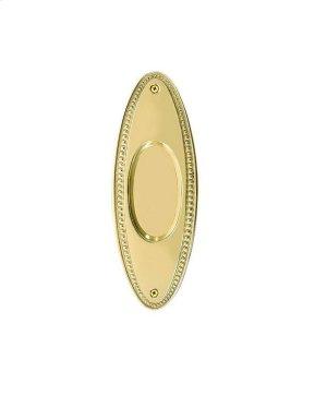Nostalgic Warehouse - Beaded Flush Pull in Polished Brass Product Image